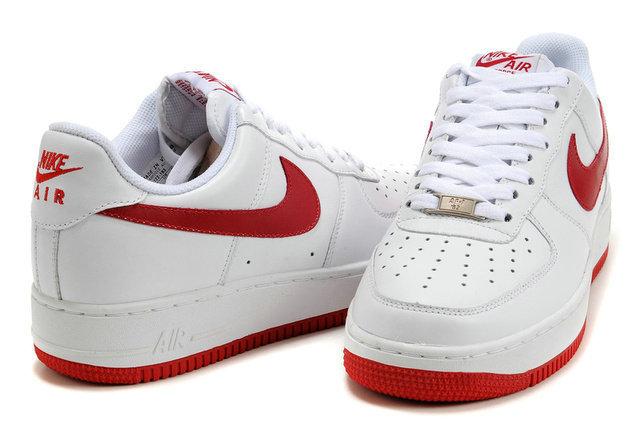 air force 1 rouge et blanche femme